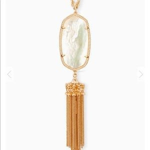 Kendra Scott Rose Gold Long Pendant Necklace